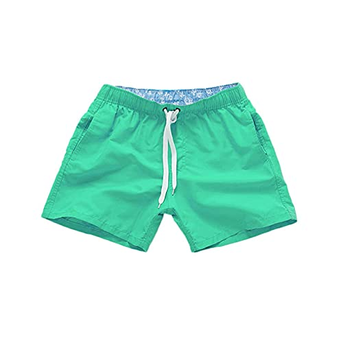 MOOKO Swim Trunks for Mens Quick Dry Beach Board Swim Shorts Elastic Waist Swimsuit Swimwear Bathing Suit with Pockets Green