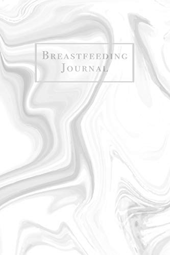Breastfeeding Journal: Newborn Baby Feeding and Diaper Tracker with Dot Grid Journaling Pages Gray and White Marble