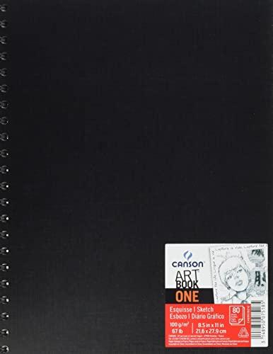 Álbum Espiral Microperforado, 21x27,9 cm, 80 Hojas, Canson Sketch One, Grano Fino 100g