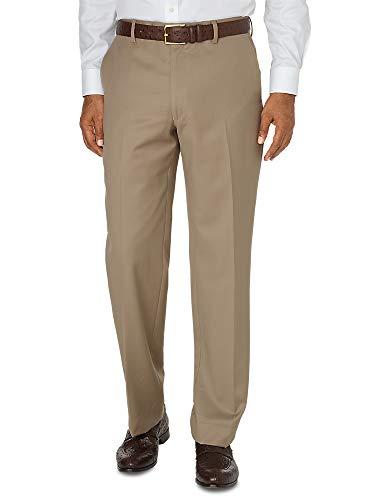Paul Fredrick Men's Wool Gabardine Flat Front Pant Tan 36