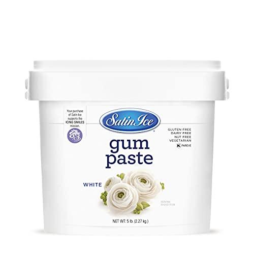 Satin Ice White Gum Paste, Vanilla, 5 Pounds