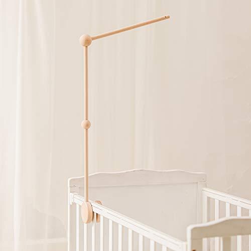 Mamimami Home 1pc Mobile Halterung Holz Mobile Baby Spieluhr Baby Mobile Gestell Mobile Wickeltisch Bettklingel Halterung Hängende Bett Glocken und Spielzeug (ohne Bett Glocken und ohne Spielzeug)