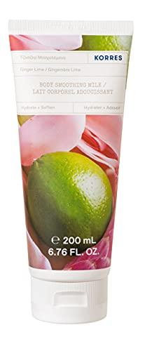 Korres Lait Corps Hydratant aux Extraits Naturels Vegan sans Paraben Senteur Gingembre Lime 200 ml