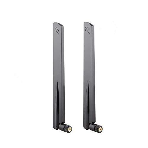 KuWFi SMA 4G LTE Antenne 38DBI Antenne SMA 4G GSM Dongle 4G à Gain élevé LTE WiFi Booster Adapter Réception Réseau Récepteur Longue Portée (Pack de 2)
