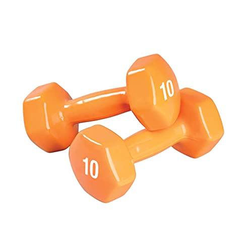SPRI Deluxe Lot de 2 haltères en Vinyle, DB-10, Orange, 10-Pound