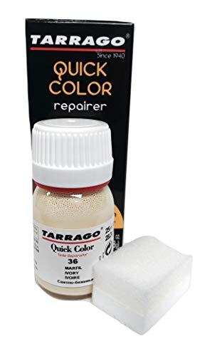 Tarrago | Quick Color 25 ml | Tinte Reparador para Cuero (Marfil 36)