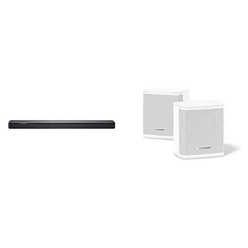 BOSE Soundbar500 mit Integrierter Amazon Alexa-Sprachsteuerung Schwarz + Surround Speakers Weiß