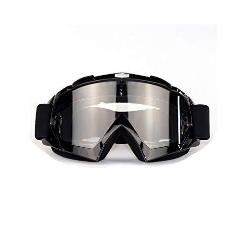 Motocross Brille schwarz,Skibrille, Anti-Fog- und Anti-Ultraviolett-Brille, biegbar mit Einer doppellinsenverdickten Schaumstoffunterlage für Outdoor-Aktivitäten (grau)