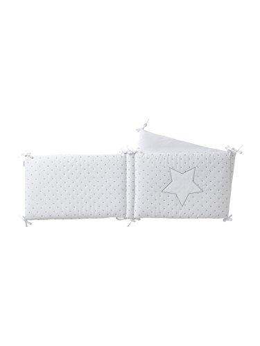 Vertbaudet Bettumrandung Sternenregen für Babybett weiß 360X40