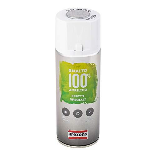 AREXONS SMALTO 100% ACRILICO EFFETTI SPECIALI METALLIZZANTE Smalto spray Argento 400 ml vernice spray universale smalto acrilico resine di alta qualità essiccazione rapida bomboletta spray