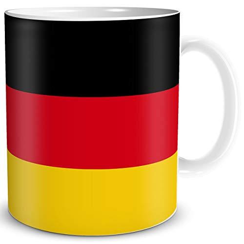 TRIOSK Tasse Flagge Deutschland Länder Flaggen Geschenk Germany Souvenir BRD für Reiselustige Frauen Männer Arbeit Büro Weltenbummler