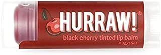 Hurraw! Hurraw! Black Cherry Tinted Lip Balm, 4.3 Grams, Black Cherry,