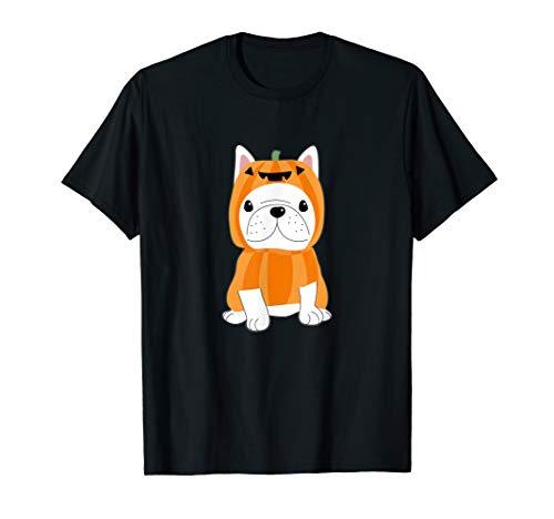 Französische Bulldogge Halloween Kürbis Kostüm T-Shirt