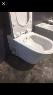 Taharet duschtoalett utan ram med integrerad arnatur + mjuk stängning toalettsits finns alltid i Badko-butiken