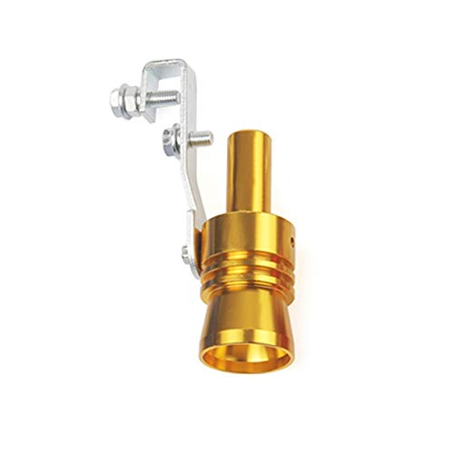 CAIZHIXIANG Escape Falso Turbo silenciador Soplo Apagado válvula Silbato Tubo Sonido simulador Silbato XL (Color : Oro, Size : Gratis)