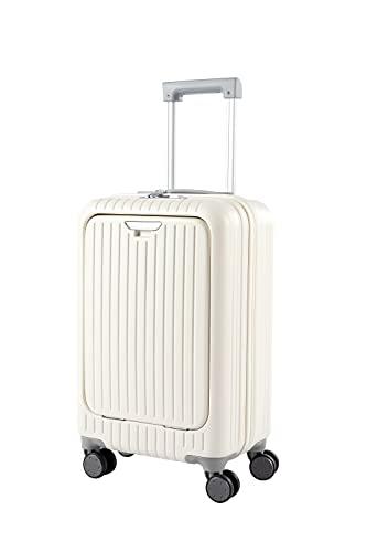 (新規開店)スーツケース 機内持ち込み フロントオープン 軽量 大容量 TSAロック 静音キャスター 前開き ファスナー式 丈夫 ビジネス 出張 キャリーバッグ 旅行 シンプル おしゃれ 2日泊 3日泊 キャリーケース 40L sサイズ トランクケース