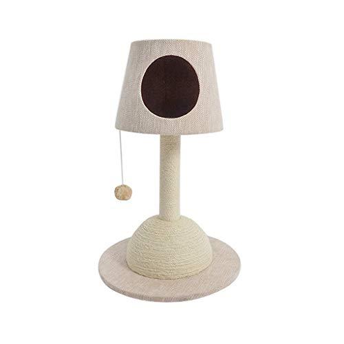 Krabpalen for katten staande lamp kat klimrek, sisal kattenbakvulling, krabpaal kat krabplank, slijtvast en krasbestendig, makkelijk te reinigen, Kattenbenodigdheden (Kleur: Beige) AQUILA1125