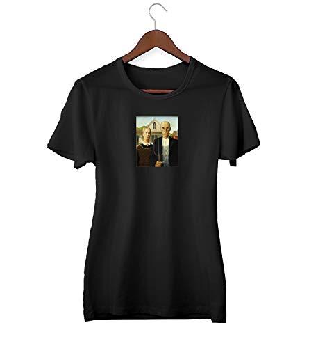 Amerikaanse gotische Grant hout schilderij Renaissance_KK021221 shirt T-shirt voor mannen cadeau voor hem cadeau verjaardag Kerstmis