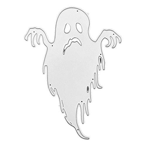 YFairy – Halloween-Gespenst, Schablone, Metall, Stanzschablone, Schablone, DIY, Scrapbooking, Album, Briefmarken, Papierkarten-Prägung, Bastel-Dekoration.