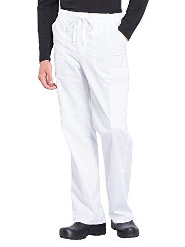 Cherokee WW Professionals WW190 Men's Tapered Leg Drawstring Cargo Pant White 2XL