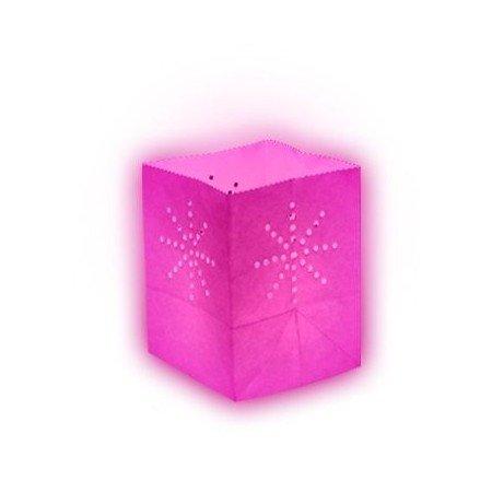 Sky Lantern Lanterne papier medium Rose (X10)