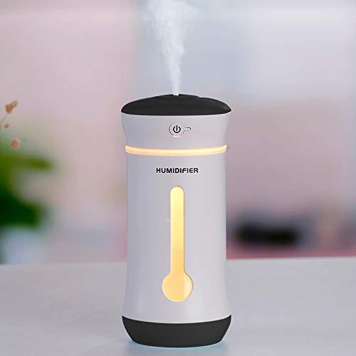 Multi-Functie Bureaulamp USB etherische olie Diffuser Bevochtigers Cool Mist Bevochtigers Ultrasone Aroma Diffusers met uitgebreide USB-poort. Duurzaam. Zwart