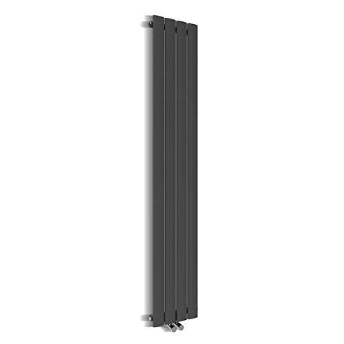 Badheizkörper Design Flach Heizkörper 1800x308mm Antrazit Paneelheizkörper Vertikal Mittelanschluss Einlagig