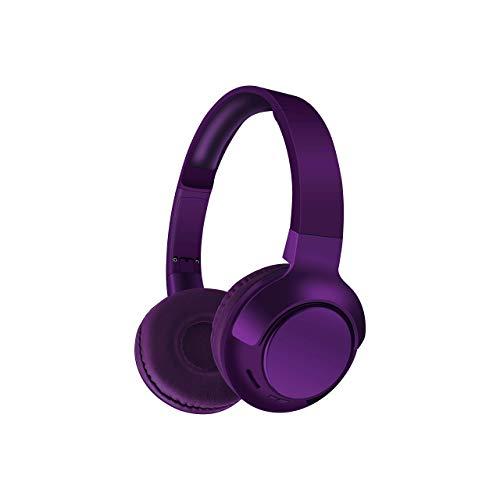 Sunix On-Ear-Kopfhörer Earphones On-Ear kabellos Kopfhörer Bluetooth Ohrhörer Over Ear Headset Eingebautes Mikrofon in Bordeauxrot