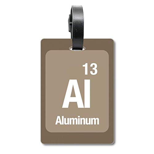 Al Aluminum Chemische Element Chem Cruise koffer Tas Tag Tourister Identificatie Label