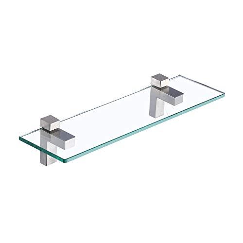KES Glasregal Badregal Duschablage 8mm Dusche Glas Ablage Glasablage für Badezimmer Wandregal mit...