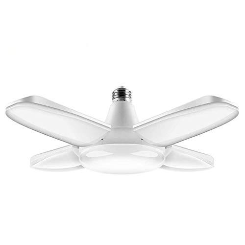 SDlamp Luces de Garaje LED deformables de 38W, Techo de 3800 LM con 4 Paneles Ajustables Tienda de luz Brillante, lámpara de Tienda deformable, para Taller/almacén/sótano