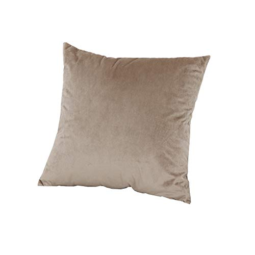 Meerweh - Juego de 4 cojines decorativos con relleno en marrón, terciopelo, poliéster, aprox. 50 x 50 cm