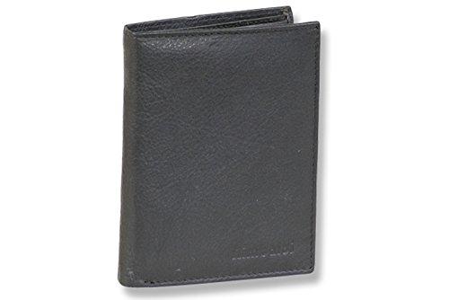 Rimbaldi® Riegelgeldbörse im Hochformat aus feinem Nappa-Rindsleder in Schwarz, Schwarz