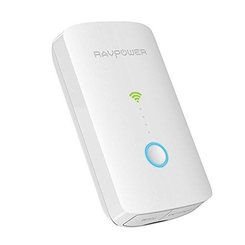 RAVPower FileHub Plus, Wireless Travel Router, SD Card Reader USB Portable Hard Drive Companion, DLNA NAS Sharing Media Streamer 6700mAh External Battery Pack