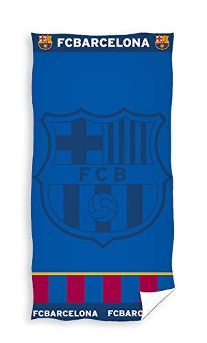 Barcelona FC - Toalla Playa Azul Escudo Barcelona FC 70 x 140 cm. ⭐