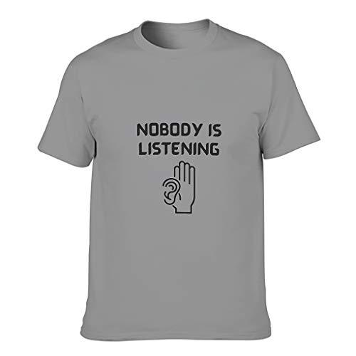FFanClassic Camiseta de algodón para hombre con texto en inglés 'Nobody is Listening Cool'