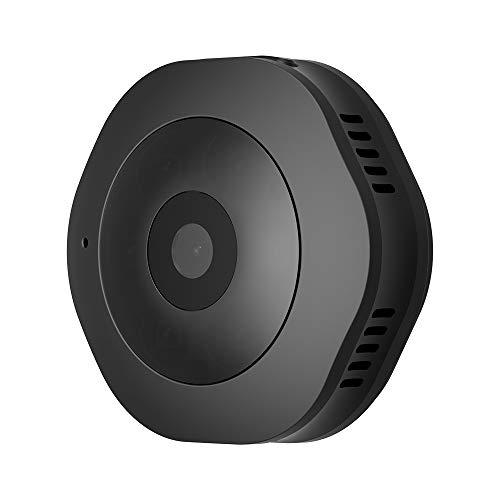 Xyamzhnn Cámara de seguridad Mini HD 1280 x 720P 120 Grados de gran angular WiFi inalámbrico inteligente WiFi Cámara de vigilancia, compatibilidad con infrarrojos Visión nocturna y grabación de detecc
