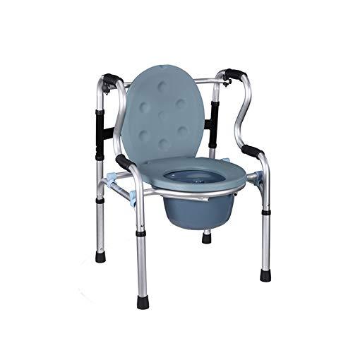 AFFC Asiento de Inodoro para Ancianos. Silla de Inodoro Plegable de Aluminio. Asiento de Inodoro para Inodoro para discapacitados para Mujeres Embarazadas