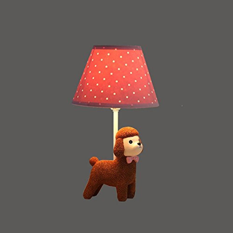 GYDD Tischlampe skandinavischen kreative Dimmen warme einfache moderne amerikanische LED Puppy Kinderzimmer Schlafzimmer Beleuchtung Jungen Geschenk (Farbe   A)