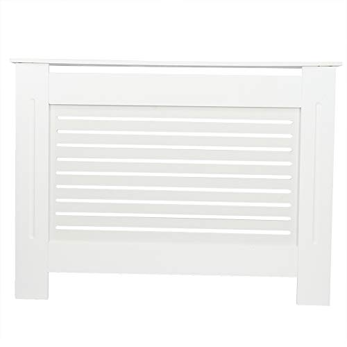 Haofy Cubierta del radiador Madera MDF Moderna Sala de Estar Dormitorio Pasillo Gabinete Caja del radiador para Calentador Protección contra Quemaduras Accesorios para Muebles para el hogar(L)