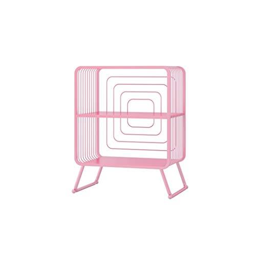 LYLY Estantería de metal para estanterías de pie, para revistas, estante de almacenamiento, estante para exhibición para el hogar, oficina, estudio (color: rosa, tamaño: pequeño)