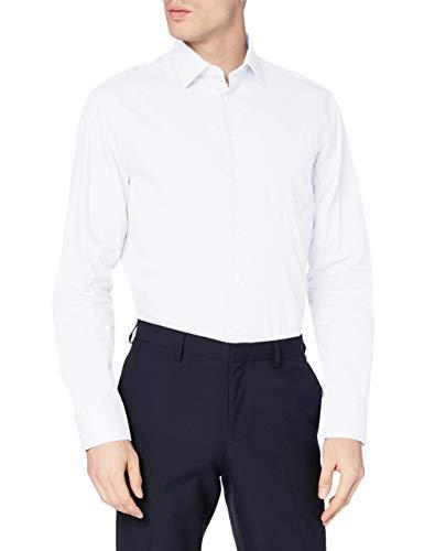 Redford Herren Business Hemd Regular Fit, Weiß (weiß 01), L (Herstellergröße: 42)