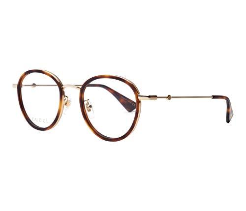 Gucci Unisex – Erwachsene GG0608OK-004-49 Brillengestell, Havana-Gold, 49