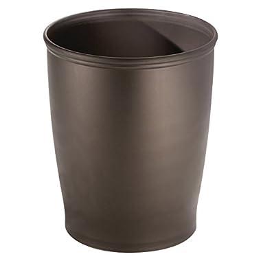 InterDesign Kent Wastebasket Trash Can for Bathroom, Bedroom or Office – Pack of 2, Bronze