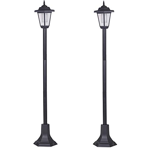 Super Bright Solar Powered Victorian Style LED Garden Lamp Posts Driveway Outdoor Pathway Lighting (2)