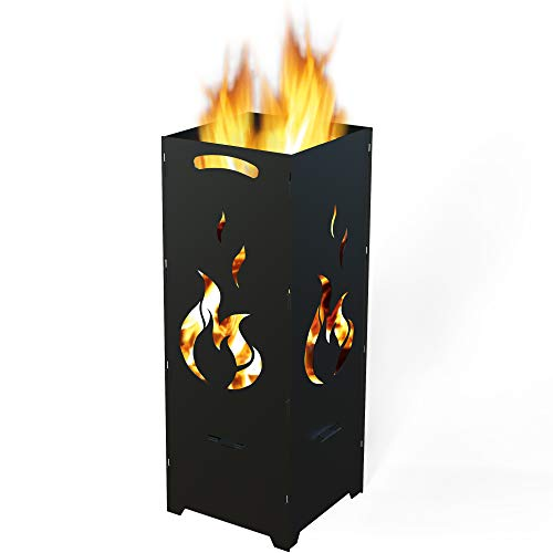 TE Feuerkorb Flamme, schwarz grundiert
