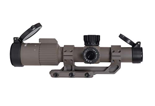 Monstrum G3 1-3x24 First Focal Plane FFP Rifle Scope with Illuminated MOA Reticle and Offset Cantilever Mount   Flat Dark Earth
