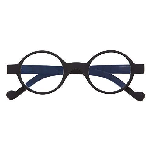 DIDINSKY Lesebrille mit Ultra Clear Vision Special zum Lesen. Korrekturbrillen für Damen und Herren. Gummi-Touch und entspiegelte Kristalle. Graphite + 1.0 - HAKONE BOOK