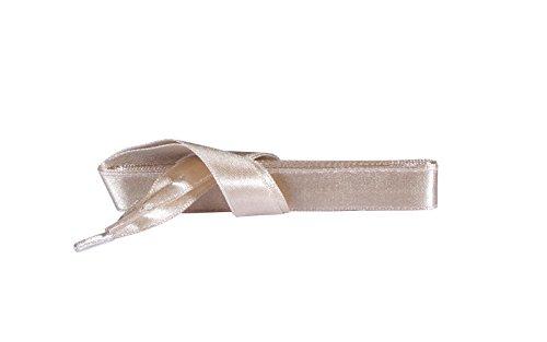 Kaps Satin Schnürsenkel – 1 Paar breite & flache Schuhbänder für z.B. Sneaker & Sportschuhe in Premiumqualität – hochwertige Flachsenkel & Schuhsenkel (120 cm – 6 bis 8 Ösenpaare in Beige)