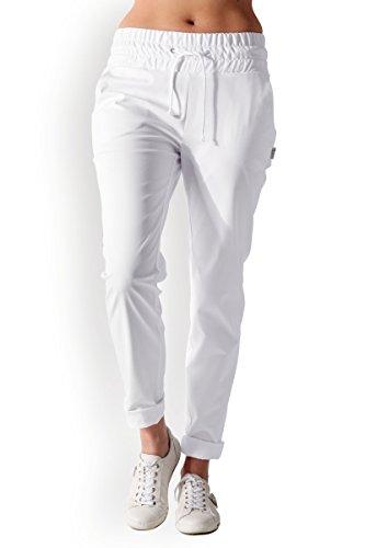 CLINIC DRESS - Damen-Hose Curved FIT Weiß Stretch weiß 46